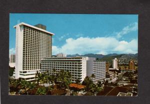 HI Hawaii Princess Kaiulani Hotel Sheraton Waikiki Honolulu Postcard