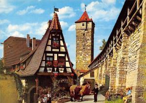 Rothenburg ob der Tauber Gerlachschmiede und Wehrgang Turm