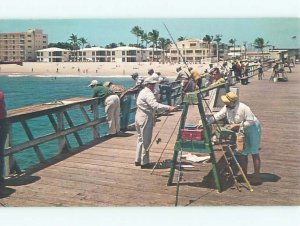 Pre-1980 FISHING SCENE Fort Lauderdale By The Sea Florida FL AF5628