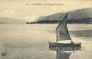 Aix Les Bains Lac Du Bourget Sailboat Unused light tab marks from being in album