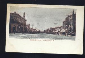 IDA GROVE IOWA DOWNTOWN SECOND STREET SCENE ANTIQUE VINTAGE POSTCARD STORES