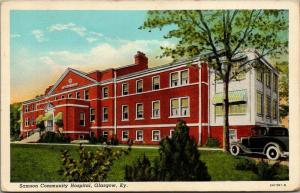 Glasgow Kentucky~Samson Community Hospital~1932 Linen Postcard