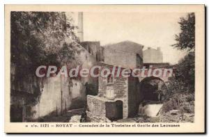 Old Postcard Royat Cascades Tiretaine and Cave Washing Machine