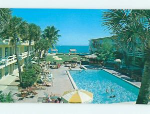 Unused Pre-1980 TRADERS RESORT MOTEL Pompano Beach Florida FL n7715