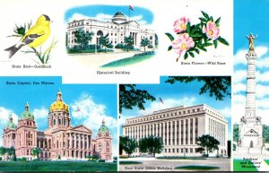Iowa Des Moines State Capitol Flower Bird and More