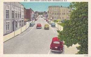 North Carolina Waynsville Main Street Looking West
