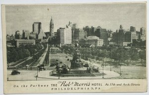 Old DVB Advertising Postcard The Rob Morris Hotel on the Parkway Philadelphia PA