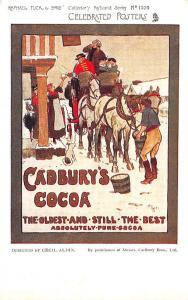 Cadbury's Cocoa Raphael Tuck Celebrated Posters Signed Cecil Aldin Postcard