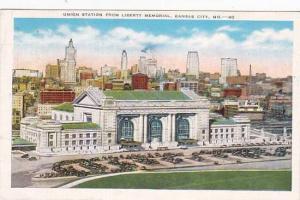 Missouri Kansas City Union Station From Liberty Memorial 1947
