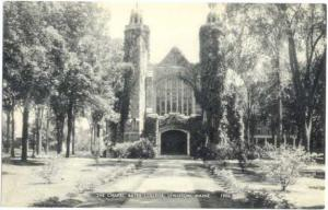 The Chapell, Bates College, Lewiston ME, Divided Back