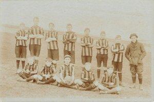 Rottingdean Brighton Hove East Sussex UK~Soccer Football Team~Uniform~c1915 RPPC