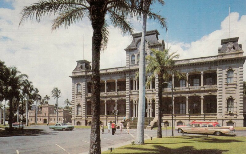 HONOLULU, Hawaii, 1950-60s; Iolani Palace, the only Royal Palace in the U.S.