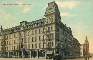 Toledo OH~Boody House Fire Escapes~Mansard Roof~1910~Torn Down in 1928
