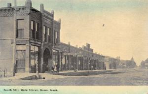 Dows IA Starnar & Trowbridge Grocery~Barber Pole~Fillmore Block~Shoe Store c1910