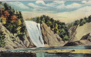 Famous Montmorency Falls, near Quebec, Canada,  00-10s