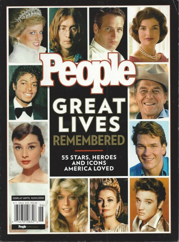 People Great Lives Remembered 55 Stars Heroes and Icons 2010 Magazine