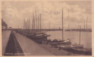 Hellerup Harbour Copenhagen Denmark Boats WW1 1918 Old Postcard