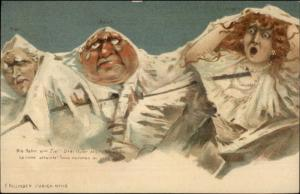 Swiss Mountains Metamorphic Fantasy Faces Killinger #115 c1905 Postcard