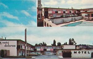 SAN MATEO,  California  CA  RANCHO DOLORES Motel   c1960s Cars Roadside Postcard