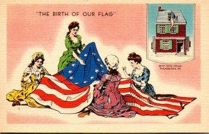 Pennsylvania Philadelphia Betsy Ross House The Birth Of Our Flag