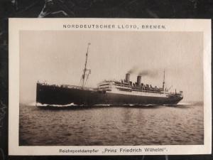 Mint Germany RPPC Postcard steamer Ship Prince Friedrich Wilhelm