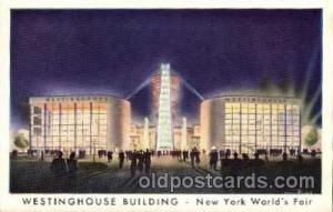 New York Worlds Fair 1939 exhibition postcard Post Card  Westinghouse Bldg.