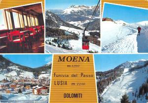 Italy Dolomiti Moena Funivia del Passo Lusia multiviews General view Cable car