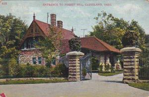 Ohio Cleveland Entrance To Forest Hill 1908