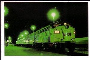 VIA Train Leaving, Jasper , Alberta,
