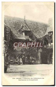 Old Postcard Dives Interior L Hotellerie William the Conqueror animated