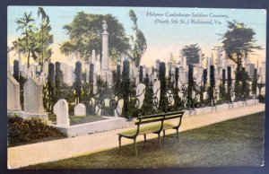 Mint USA Picture Postcard Hebrew Confederate Soldiers Cementerial Richmond VA
