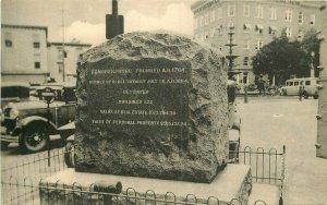 Auto Chambersburg Pennsylvania RPPC Photo Postcard Monument Public Square 7804