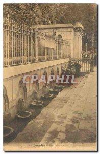 Old Postcard Lourdes Taps
