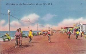 New Jersey Ocean City Bicycling On The Boardwalk At Ocean City 1961
