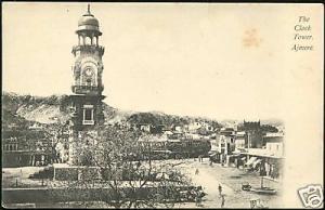india, AJMERE, The Clock Tower (ca. 1910)