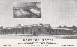 Alabama Eutaw The Roebuck Motel 1952 sk6916