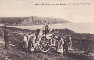 CARTHAGE-Chargement d'un Sarcophage (Fouilles des Peres Blancs), Tunisia, 00-10s