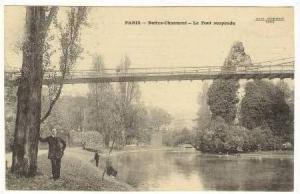 Buttes Chaumont-Le Pont Suspendu, Paris, France, PU-1914