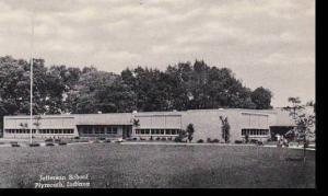 Indiana Plymouth Jefferson School Curteich