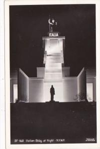 New York World's Fair Italian Building At Night Real Photo