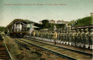Panama - Camp Elliot. President Roosevelt Reviewing the Marines