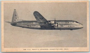 Vintage Military Aviation Postcard U.S. Navy's Lockheed Constitution Unused