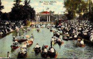 Michigan Detroit Belle Isle Band Concert 1910 Curteich