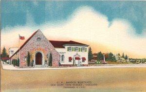 G48/ Oakland California Postcard? C.P. Bannon Mortuary Funeral Home c30s
