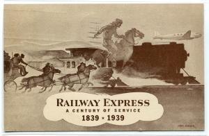 Railway Express Century of Service New York World Fair 1939 postcard
