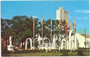Spanish Plaza and 1st National Bank Building, Mobile Alabama AL Chrome