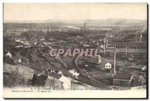 Postcard Old Mine Mines Le Creusot in 1903 General view of the East Coast Sch...