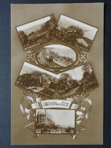Essex: Southend on Sea, 6 Image Multiview c1925 Real Photograph Postcard