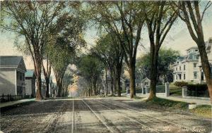 Bangor ME~Palatial Mansions & Simple Houses Across State Street~1910 Postcard