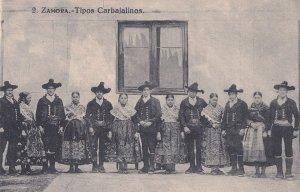 Zamora Tipos Carbajalinos Sanabria Spain Old Postcard